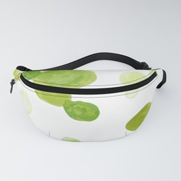Abstract Green Watrcolor Circes Fanny Pack