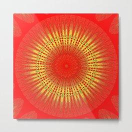 Sun_Mandala Metal Print