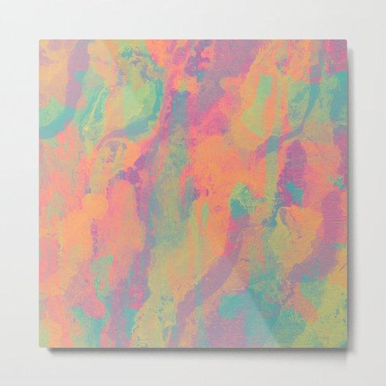 Neon marble II Metal Print