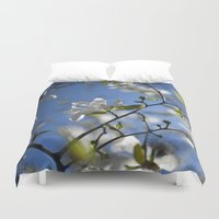 magnolia Duvet Covers featuring Magnolia by Moe C