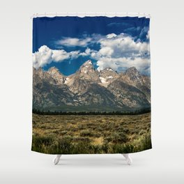 The Grand Tetons - Summer Mountains Shower Curtain