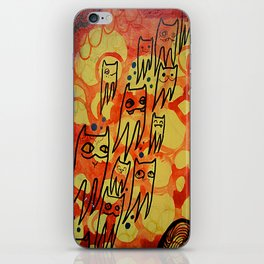 squidcat parade iPhone Skin