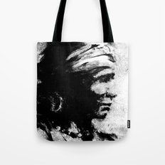 Stark - Native American Indian Portrait in B&W Tote Bag