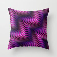 3d Throw Pillows featuring 3D by DagmarMarina