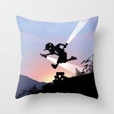 Flash Kid Throw Pillow