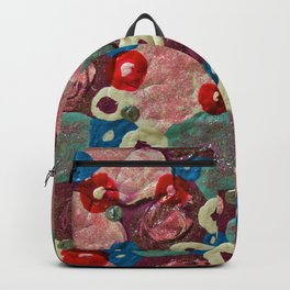 Mixed Flowers - Abstract Mixed Media Painting Backpack