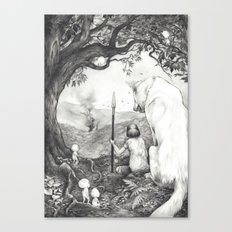 Between the Roots and the Branches Canvas Print