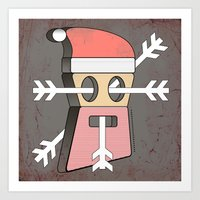 merry christmas Art Prints featuring Merry christmas by AmDuf