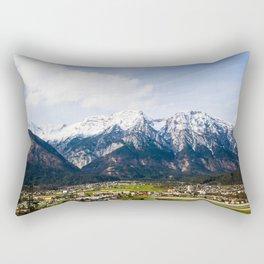 Village Beneath the Mountain Rectangular Pillow