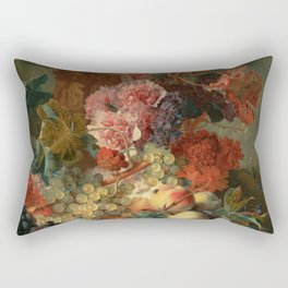 "Jan van Huysum ""Fruit Piece"" Rectangular Pillow"