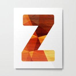 Letter Z - Wood Capital Alphabet Metal Print
