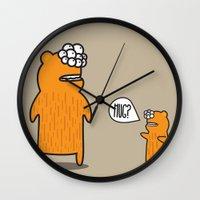 hug Wall Clocks featuring Hug? by JRosas