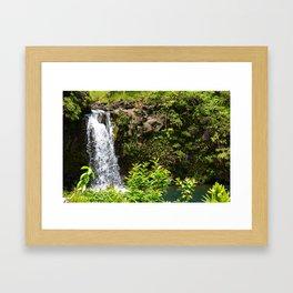 Waterfall: Road to Hana Framed Art Print