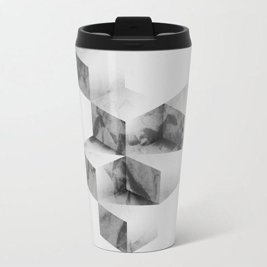 Geometric 2 Metal Travel Mug