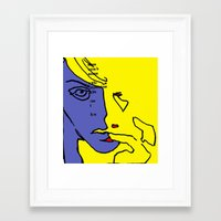 lip Framed Art Prints featuring lip finger by Keith Cameron