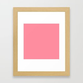Pink Salmon Colour Framed Art Print