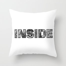 What's inside? Throw Pillow