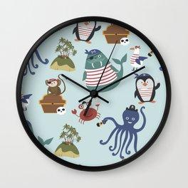 Pirates At Sea Wall Clock