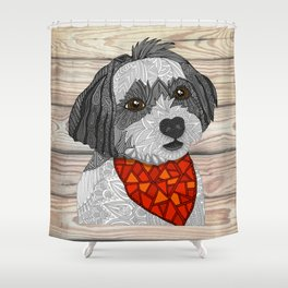 Max the Havanese Shower Curtain