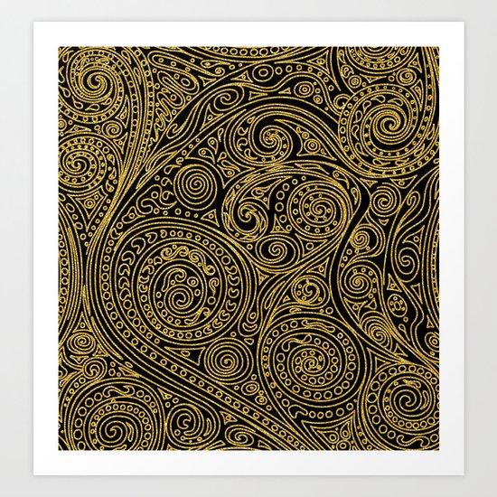 Golden spiral pattern Art Print
