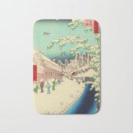 Atagoshita and Yabu Lane - Japanese Woodblock Bath Mat