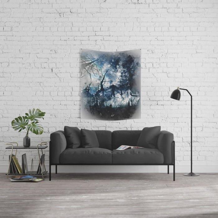 Into the Darkness Wall Tapestry