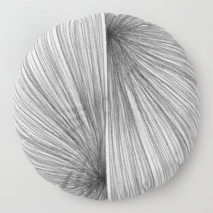 Mid Century Modern Geometric Abstract Radiating Lines Floor Pillow