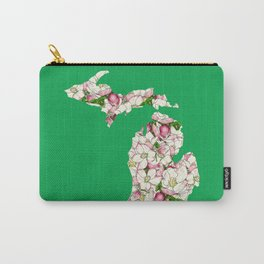 Michigan in Flowers Carry-All Pouch