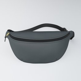 Solid Gunmetal Gray Green Color Fanny Pack