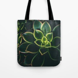 Dark Green Succulents - Nature Photography Tote Bag
