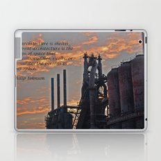 All architecture is shelter....... Philip Johnson Quote Laptop & iPad Skin