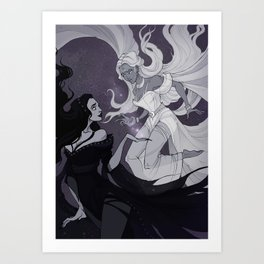 Nyx and Selene Art Print