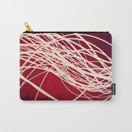 Linear Flow-Red Complex Carry-All Pouch