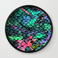 quilt Wall Clocks featuring Quilt by Simona Sacchi