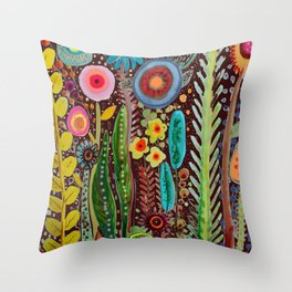 jardinage Throw Pillow