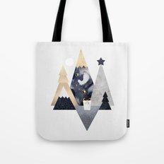 Christmas Mountains Tote Bag