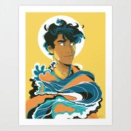 Son of the Sea: Percy Jackson Art Print