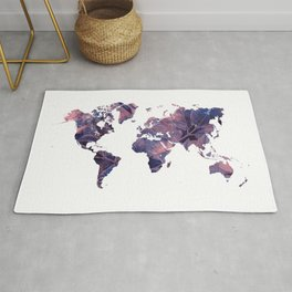 world map 76 purple Rug