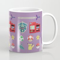 video games Mugs featuring video games by Black
