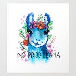 No Prob Llama Art Print