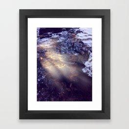 Ray Of Water Framed Art Print