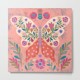 Blooming Butterfly Metal Print