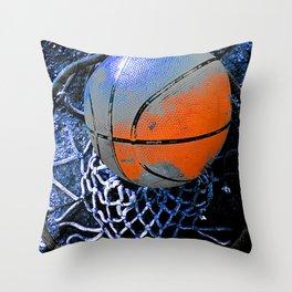 basketball print variant 3 Throw Pillow