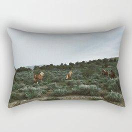 Nevada Horses Rectangular Pillow