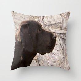 black Labrador Throw Pillow