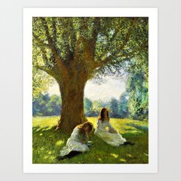 George Clausen - The spreading tree - Digital Remastered Edition Art Print