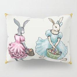 Dressed Easter Bunnies 2 Pillow Sham