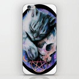 Magical Dark Kitty iPhone Skin