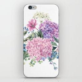 Summer Vintage Hydrangea iPhone Skin