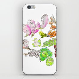 Fresh: a watercolor of the bounty at Quebec City's farmers' market iPhone Skin